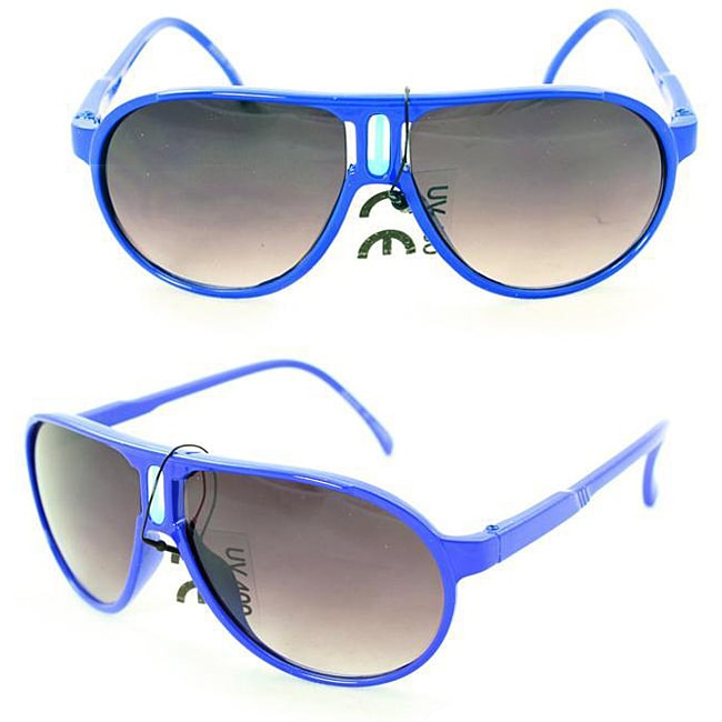Kid's K912 Blue Plastic Aviator Sunglasses