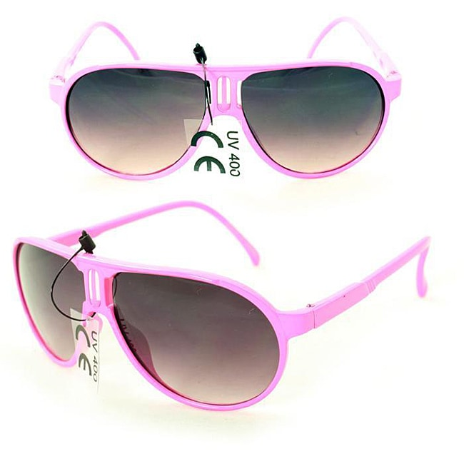 Kid's K912 Pink Plastic Aviator Sunglasses