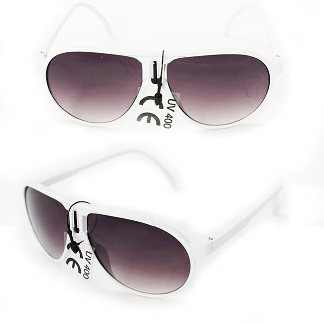 Kid's K912 White Plastic Aviator Sunglasses