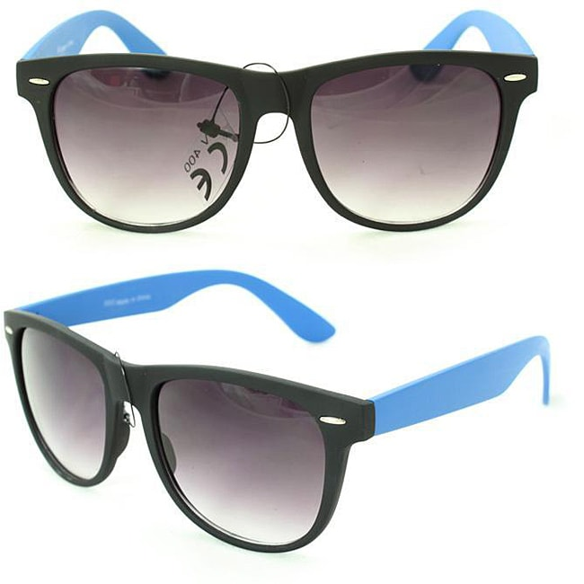 Men's 350C Black/ Blue Plastic Sunglasses