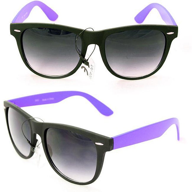 Men's 350C Black/ Purple Plastic Fashion Sunglasses