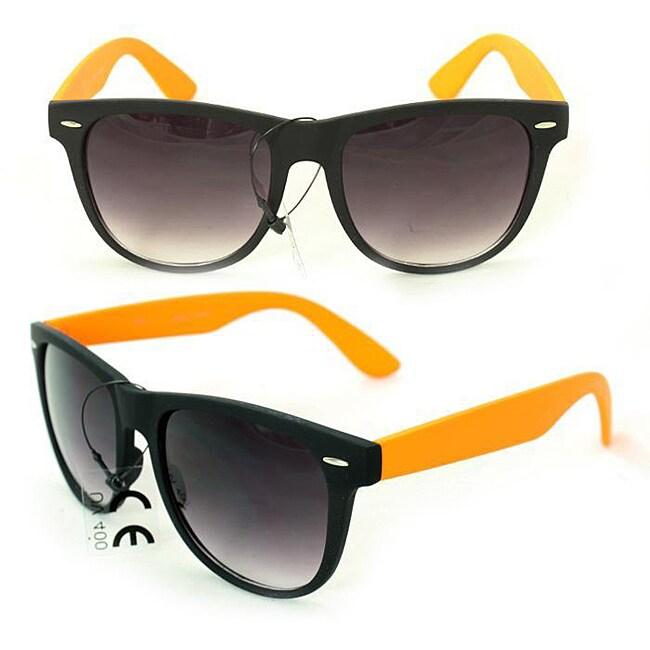 Men's 350C Black/ Orange Plastic Fashion Sunglasses