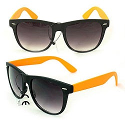 Men's 350C Black/ Orange Plastic Fashion Sunglasses