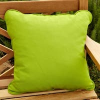 Clara Outdoor Green Throw Pillows Made with Sunbrella (Set of 2)