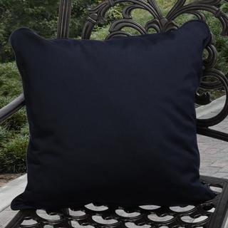 Clara Indoor/ Outdoor Navy Throw Pillows made with Sunbrella (Set of 2)