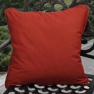 Clara Outdoor Red Throw Pillows Made with Sunbrella (Set of 2)
