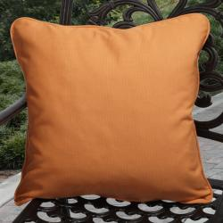 Clara Outdoor Tangerine Throw Pillows Made with Sunbrella (Set of 2)