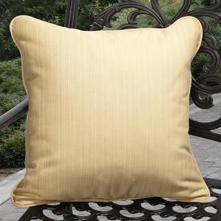 Clara Outdoor Textured Yellow Throw Pillows Made with Sunbrella (Set of 2)