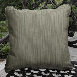 Clara Indoor/ Outdoor Textured Green Throw Pillows Made with Sunbrella (Set of 2)