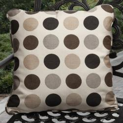 Clara Outdoor Mojito Coffee Brown Pillows Made with Sunbrella (Set of 2)
