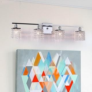 Four Light Chrome/ Crystal Wall Sconce