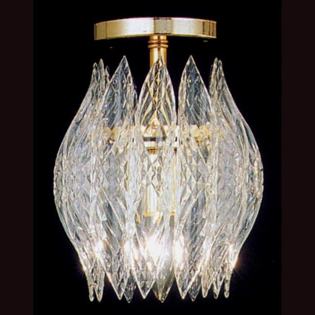 Shop Kerchief 1 Light Polished Brass Finish Semi Flush