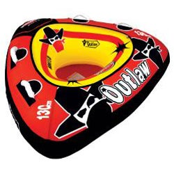 Sportsstuff Outlaw One-rider Red/Black PVC/Nylon Towable Water Tube - Thumbnail 1