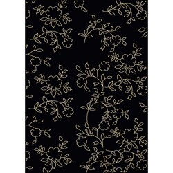 Shop Admire Home Living Impressions Black Area Rug 7 9 X