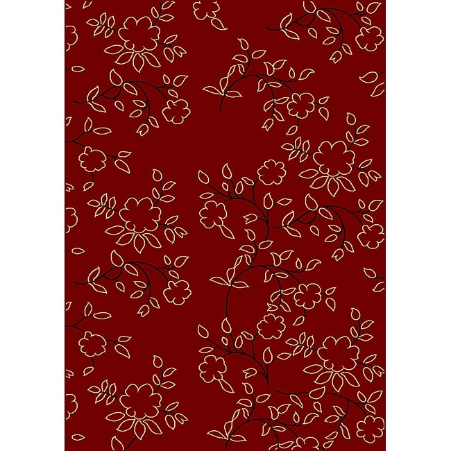 Admire Home Living Impressions Red Area Rug (7'9 x 11')