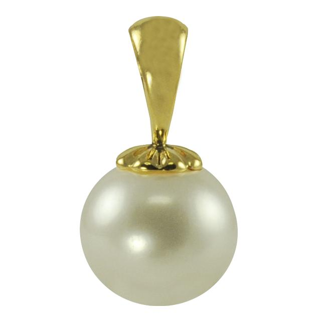Pearls For You 14k Yellow Gold White Freshwater Pearl Pendant (10-10.5 mm)