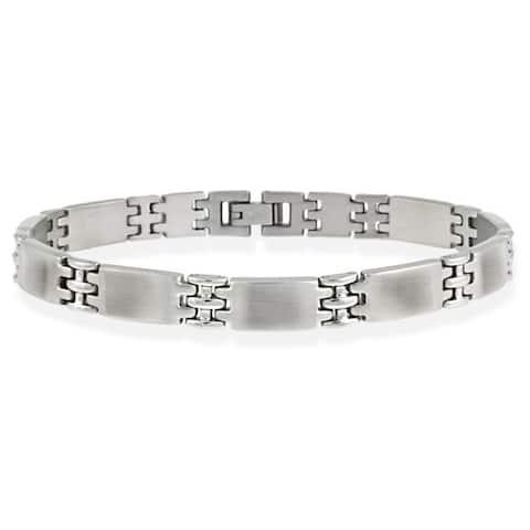 Mondevio Stainless Steel Men's Link Bracelet