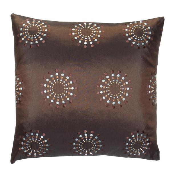 Handmade Brown Mayan Decorative Pillow