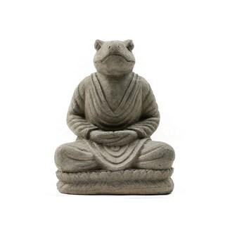 Handmade Meditating Frog Statue (Indonesia)