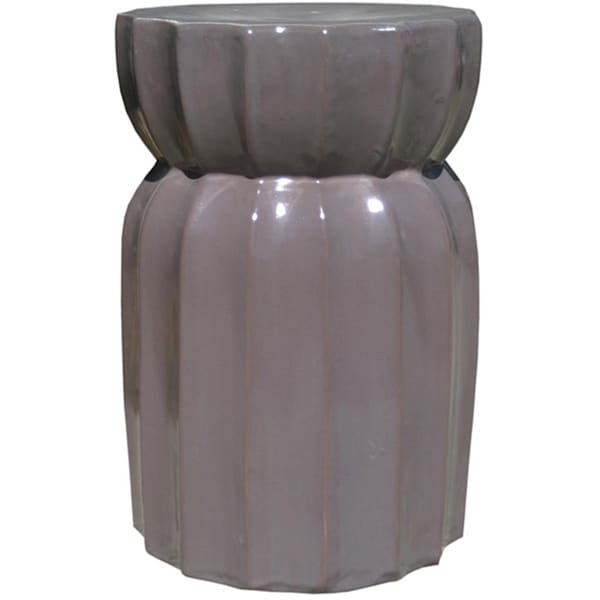Shop Lotus Grey Ceramic Garden Stool Free Shipping Today