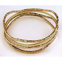 Set of 4 Brass and Copper Bangle (India)