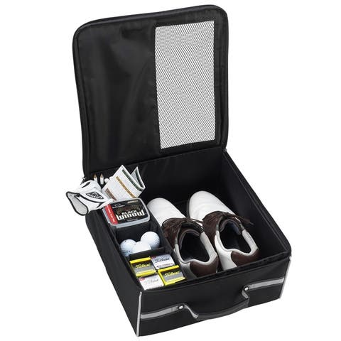 Picnic at Ascot Black Golf Trunk Organizer