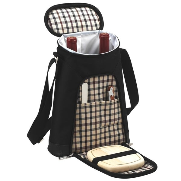 Picnic at Ascot London Double Bottle Carrier or Cooler with Cheese set
