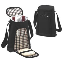 Picnic at Ascot London Double Bottle Carrier with Cheese set
