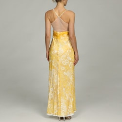 Issue New York Women's Beaded Sheer Back Evening Gown - Thumbnail 1