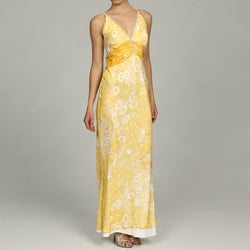 Issue New York Women's Beaded Sheer Back Evening Gown