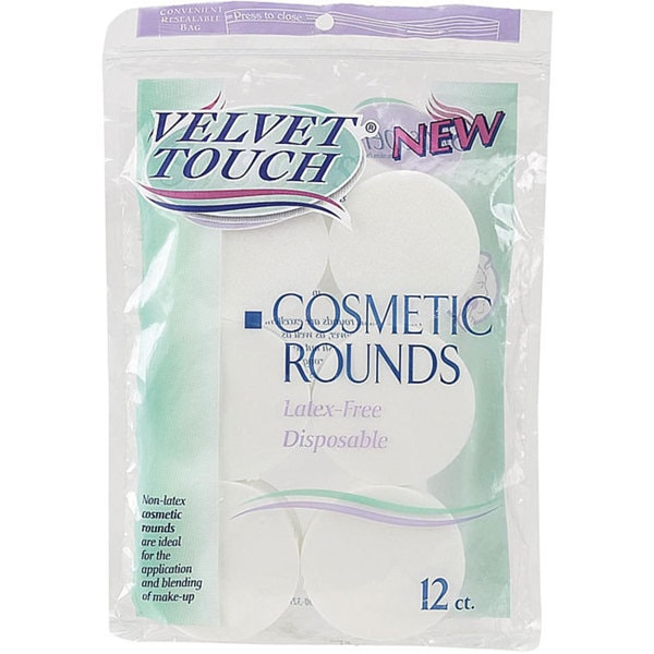 Velvet Touch Cosmetic Round 12-count Packages (Case of 48)