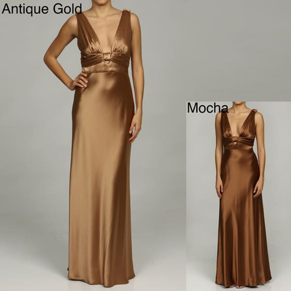 Issue New York Women's Deep V-neck Evening Gown