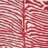 Alliyah Handmade New Zeeland Blend Zebra Off White Rug (6' Square)
