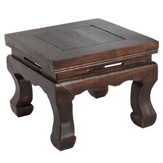 Dark Wood Chinese-style Stool
