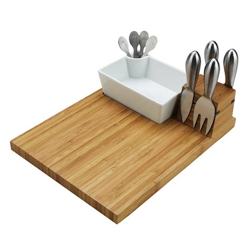 Picnic at Ascot Buxton Bamboo Cutting Board and Tools Set