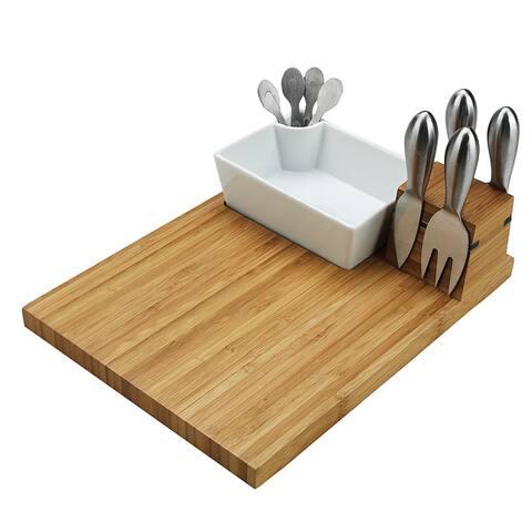 Picnic at Ascot Buxton Bamboo Cutting Board and Tools Set