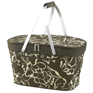 Picnic at Ascot Stylish Cooler Market Basket - Polycanvas/Aluminum