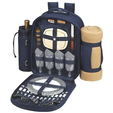 Picnic at Ascot Bold Picnic for Four Backpack with Blanket