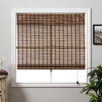 Arlo Blinds Guinea Deep Bamboo Roman Shade with 54 Inch Height - 40 inch width x 54 inch height