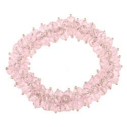 La Preciosa Hanging Pink Crystal Stretch Bracelet