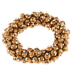 La Preciosa Hanging Goldtone Crystal Stretch Bracelet