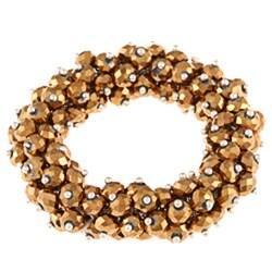 La Preciosa Hanging Goldtone Crystal Stretch Bracelet