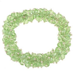 La Preciosa Hanging Green Crystal Stretch Bracelet