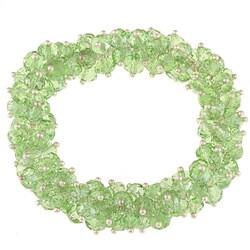 La Preciosa Hanging Green Crystal Stretch Bracelet