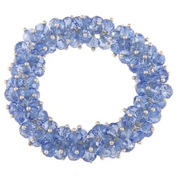 La Preciosa Hanging Blue Crystal Stretch Bracelet