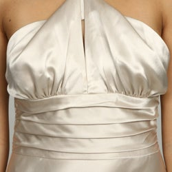 Issue New York Women's Pearl Bandeau Halter Evening Gown - Thumbnail 2