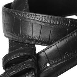 Boston Traveler Men's Embossed Croc Print Leather Belt