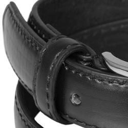 Daxx Unlimited Boy's Genuine Leather Black Belt