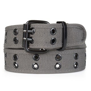 Boston Traveler Men's Double Eyelet Canvas Belt
