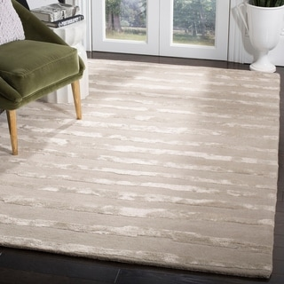 Safavieh Handmade Soho Stripes Grey New Zealand Wool Rug (8'3 x 11')